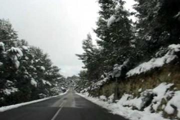 Calvia Road in the Snow – Palma de Mallorca